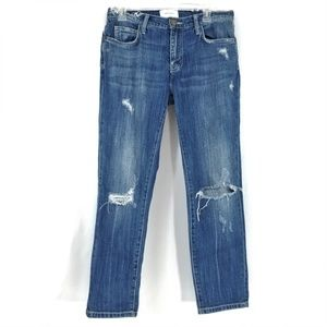 Current Elliott Ankle Jeans Ripped Destroyed High